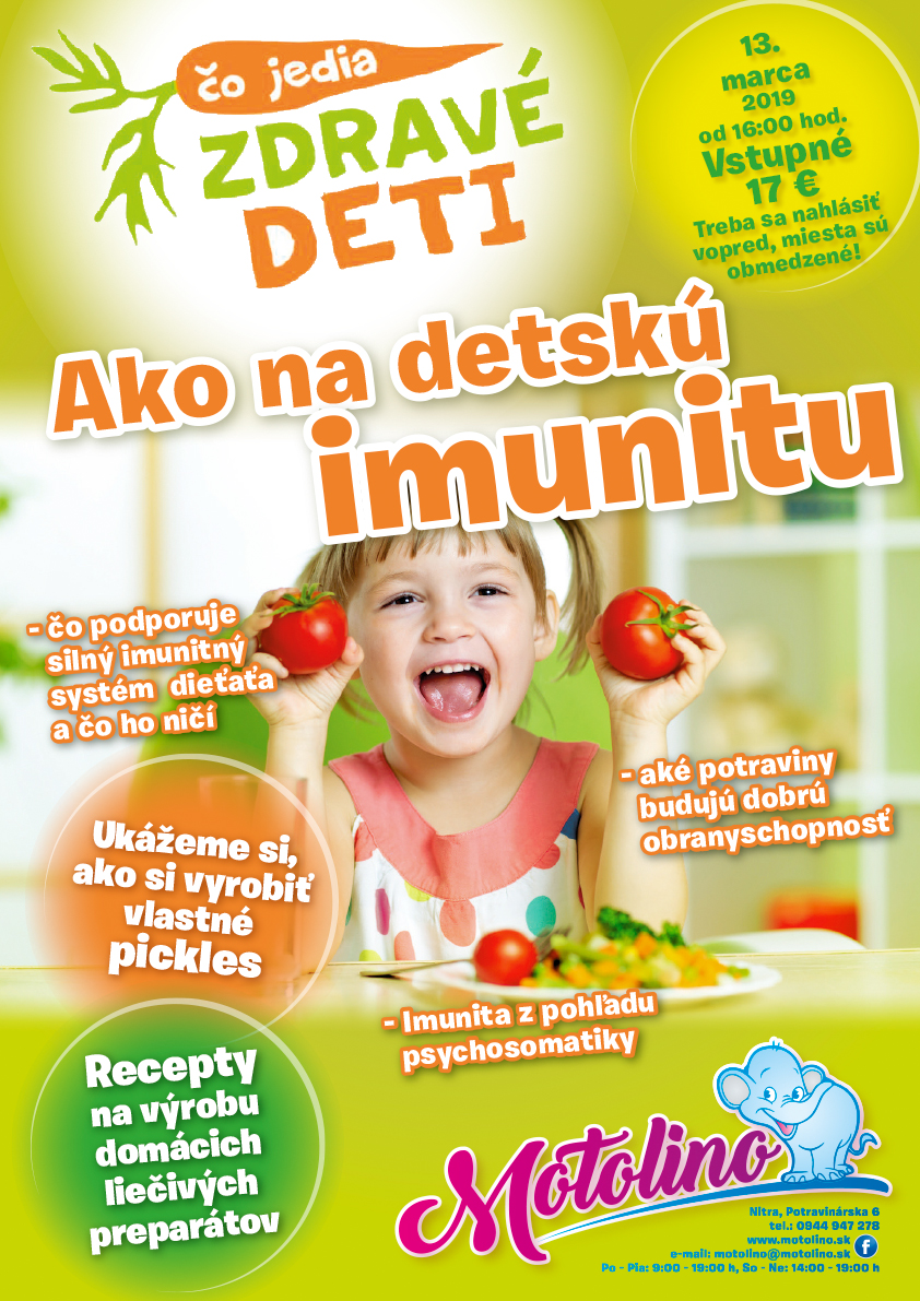Motolino Co jedia zdrave deti Imunita deti