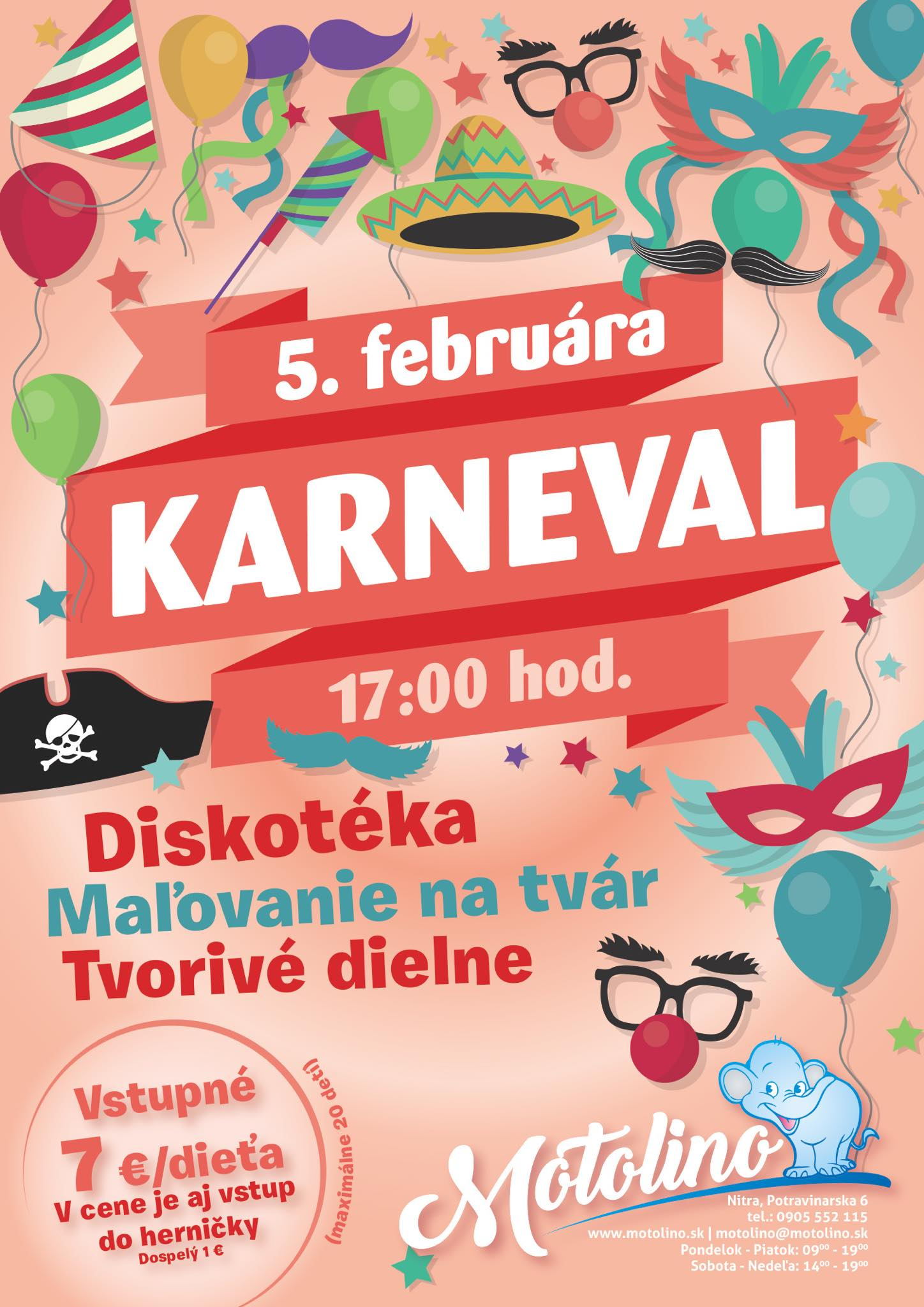 karneval detsky motolino